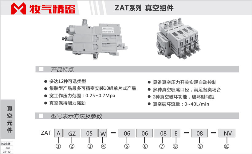 E03-ZAT系列:真空组件